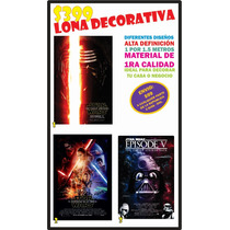 Lona Decorativa Star Wars Decoración Alta Definicion