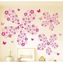 Vinyl Tapiz Princesas Decoración Mariposas Flores 4 Rollos