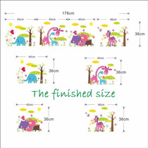 Vinilo Decorativo Sticker Animales Infantil 180x36