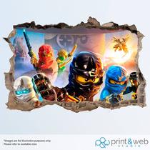 Vinilos,stickers, Lego Ninjago, Calidad Fotografica