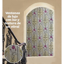Vinil Autoadherible Vitral Flores Betterware - Ventana