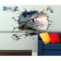 Vinilo Decorativo Dinosaurios 12 Muro Roto Jurassic Park