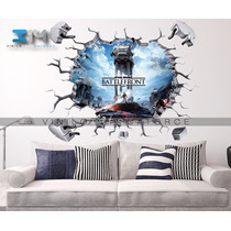 Vinilo Decorativo Star Wars-i20 Muro Roto At At Battlefornt