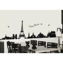 Vinil Decorativo Paris, Londres, Mundo, Brilla En Oscuridad