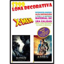 Lona Decorativa X Men Decoración Alta Definicion Granformato