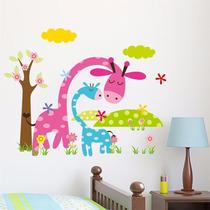 Vinilo Decorativo Sticker Jirafas 36x45
