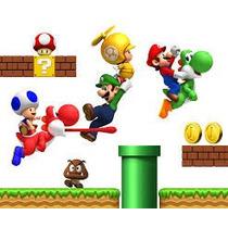 Vinil Gigante De Mario Bros P/ Habitación Infantil