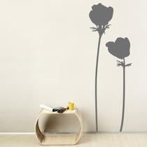 Increíble Vinilo Decorativo Flores Minimallista Sala Sticker