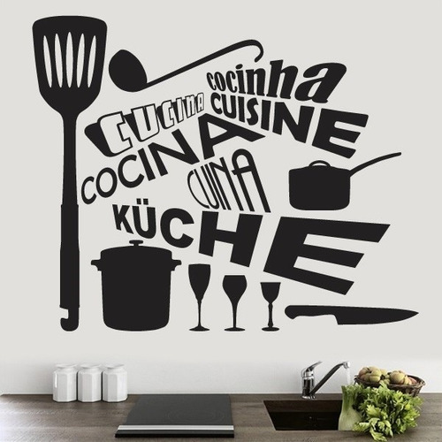 Vinilos decorativos para cocina stickers en for Stickers decorativos de pared