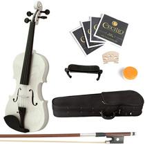 Violin Mendini 4/4 Blanco Con Accesorios Vv4
