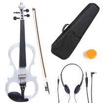 Violin Electrico Cecilio 4/4 Con Accesorios Blanco Hm4