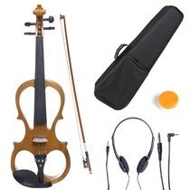 Violin Electrico Cecilio 4/4 Con Accesorios Cafe Hm4