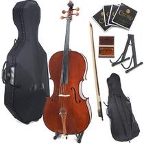 Violonchelo Chelo Cecilio Cco-300 Cello 4/4 + Accesorios Hm4