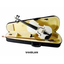 Violin 4/4 Incluye Arco Brea Estuche Color Blanco