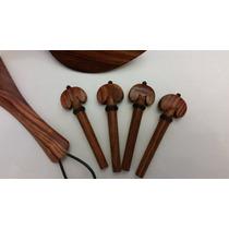 Accesorios Madera Rosewood Franja Negra Para Violín