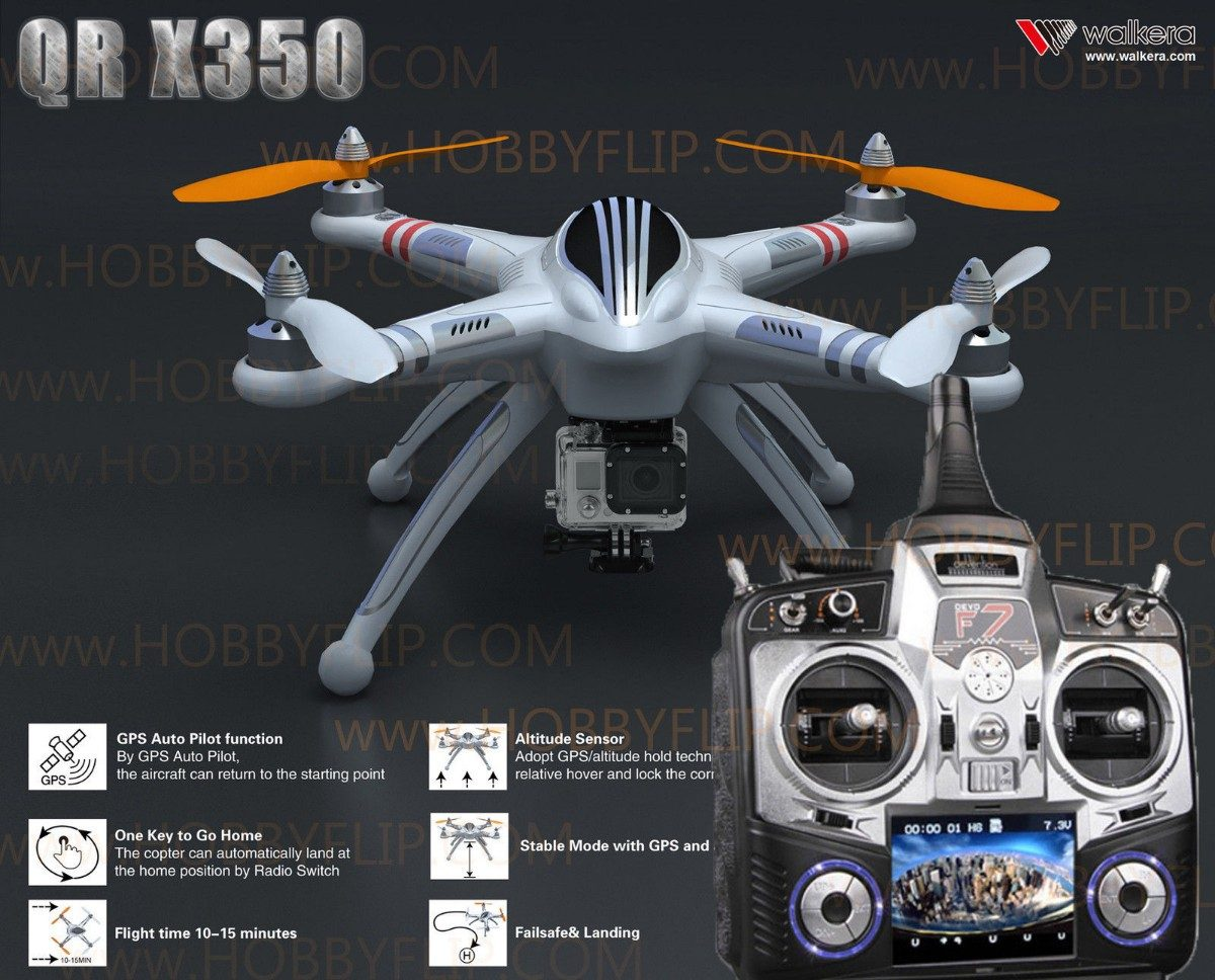 walkera qr x350 fpv cuadcoptero gps para camara gopro u. Black Bedroom Furniture Sets. Home Design Ideas