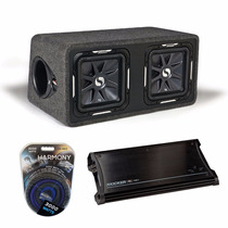 Kicker Zx1500.1 + 11ds12l72-n + Harmony Audio Ha-ak0