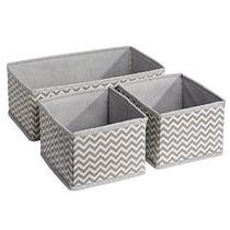 Interdesign Chevron Tela Almacenamiento Dresser Cajón Organi
