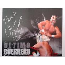 Poster Autografiado Firmado Ultimo Guerrero Aaa Cmll Lucha