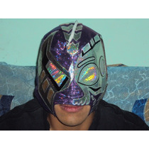 Wwe, Aaa, Cmll Mascara Black Warrior P/adulto Profesional.