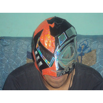 Wwe Cmll Mascara Black Warrior Cyborg P/adulto Semiprofesion