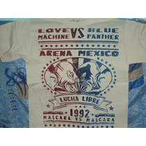 Playeras D Luchadores Blue Panther Vs Love Machine Lucha Lib