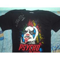 Playera De Luchador Psycho Clown Autografiada Triplemania