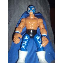 Figura Luchador Mexicano Blue Panther En Muñeco Patones
