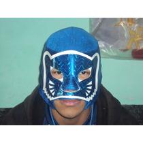 Wwe Cmll Mascara Blue Panther P/adulto Semiprofesional.