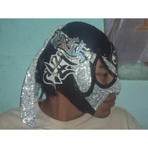 Mascara Semiprofesional D Luchador Pentagon Jr Autografiada