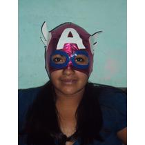 Mascara De Capitan America Tipo Luchadora P/dama P/adulto