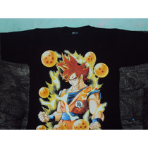 Playera Dragon Ball Z De Goku Super Sayayin Dios Talla L