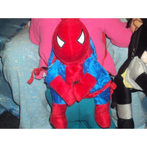Mochilas De Peluche Spiderman. Marvel Y Dc.