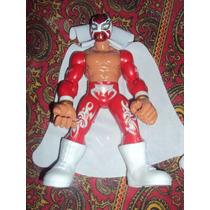 Figura Luchador Mexicano Sin Cara Mistic 2.0 Muñeco Patones