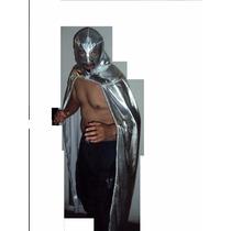 Traje Capa Y Mascara De Luchador Santo Profesional Adulto