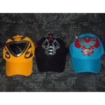 Gorras De Mascara De Luchador Mil Mascaras 2 Caras Tinieblas