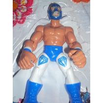 Luchador Mexicano Diamante Azul Muñeco Patones Lucha Libre