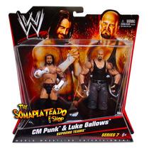 Cm Punk Luke Gallows Wwe Supreme Teams Serie 7 Mattel