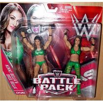Wwe Set 2 Figuras Nikki Bella Y Brie Bella Serie Battlepack