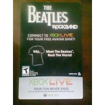 Código Para Descargar Playera The Beatles Rock Band (rosa)
