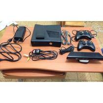 Xbox 360 Slim Negro Mate + Juegos + Hdd + Kinect
