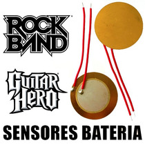 2 Sensores Bateria Rock Band Guitar Hero De Ps3 Xbox 360 Wii