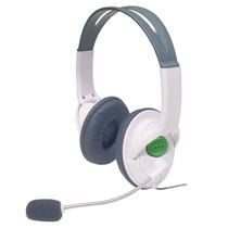 Diadema Xbox 360 Blanca Negra Microfono Control Volumen