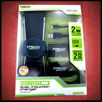 Base De Carga Y 2 Baterias Para Xbox 360 Original Kmd