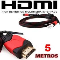 Cable Hdmi 5 Metros Full Hd 1080p Tv Lcd Led Xbox 360 Lap