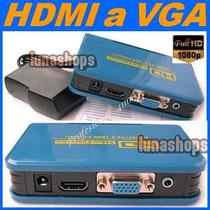 A11 Convertidor Hdmi A Vga Y 3.5mm Audio Y Video Alta Definc