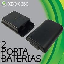 2 Tapa Caja Baterias Pilas Control Xbox 360 Envio Barato