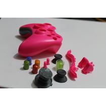 Carcasa Control Inalambrico Rosado Morado Y Negro Xbox 360