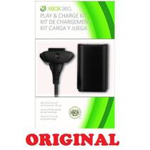 Kit Carga Y Juega Para Xbox 360 Cable Y Bateria Original