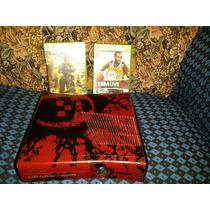 Xbox 360 Slim 320gb Edición Especial Gears Of War En Caja